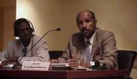 """Convegno contro le mutilazioni genitali femminili, intitolato """"Stop FGM!"""". Cheikh Saad Bouh Kamara, giurista, vicepresidente della FIDH (Fédération in"""