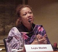 """Convegno contro le mutilazioni genitali femminili, intitolato """"Stop FGM!"""". Leyla Sheikh, direttrice di Tamwa (Tanzania Media Women's Association)."""