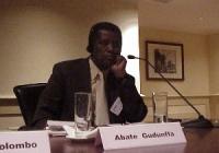 """Convegno contro le mutilazioni genitali femminili, intitolato """"Stop FGM!"""". Abate Gudunffa - Comitato Nazionale etiopico sulle pratiche tradizionali."""