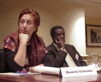 """Convegno contro le mutilazioni genitali femminili, intitolato """"Stop FGM!"""". Daniela Colombo, presidente dell'AIDOS (Associazione Italiana Donne per lo"""