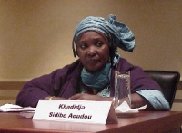 """Convegno contro le mutilazioni genitali femminili, intitolato """"Stop FGM!"""". Khadidja Sidibé Aoudou - presidente dell'Amsopt (Associazione maliana per i"""