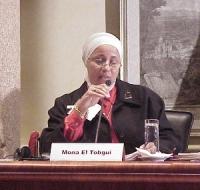 """Convegno contro le mutilazioni genitali femminili, intitolato """"Stop FGM!"""". Mona El Tobgui, pedopsichiatra (Egitto)."""