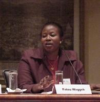 """Convegno contro le mutilazioni genitali femminili, intitolato """"Stop FGM!"""". Fatou Waggeh, direttrice di Bafrow (Banjul Foundation for Research on Women"""