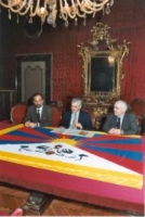 Conferenza stampa con il sindaco di Cremona e il radicale Sergio Ravelli (il Comune aderisce alla campagna del PR per la liberazione del Tibet).