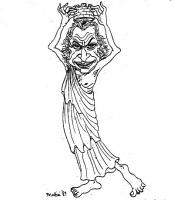 VIGNETTA Marco Pannella si autoincorona come personificazione dell'Italia.