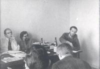 Gianfranco Spadaccia, Roberto Cicciomessere, Marcello Baraghini.