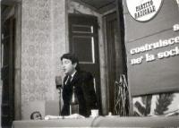 10° Congresso del PR. Massimo Teodori, alla tribuna.