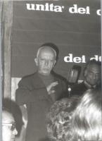 Leopoldo Piccardi (in secondo piano: Marco Pannella).