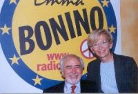 Emma Bonino e il candidato della lista Bonino Stefano Magini.