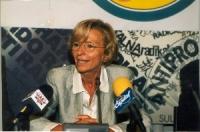 Emma Bonino, in occasione di una conferenza stampa alla sede di Torre Argentina per i referendum days (giornate di mobilitazione straordinaria per la