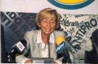 Emma Bonino, durante una conferenza stampa presso la sede di Torre Argentina.