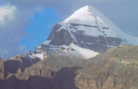 Veduta del monte Kalash, sacro ai tibetani.
