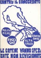 Cartolina per una campagna contro per l'abrogazione del Concordato.