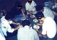 Pranzo di membri dell'opposizione birmana (BSPRC).