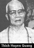 Thich Huyen Quang (Patriarca della Chiesa Buddista unificata del Vietnam).