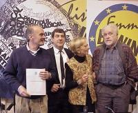 Conferenza stampa di presentazione del rapporto 2001 sulla pena di morte dell'associazione Nessuno Tocchi Caino. Fra gli altri: secondo da sinistra, E