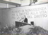Alfredo Biondi alla tribuna del 36° Congresso del PR.