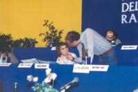 Maria Teresa Di Lascia e Sergio D'Elia alla presidenza di un congresso radicale.