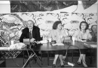 Consiglio direttivo di Nessuno Tocchi Caino. Sergio D'Elia e Maria Teresa di Lascia.
