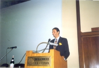 Giorgio Pagano (segretario ERA), alla tribuna del Congresso FEI (Federazione Esperantista).
