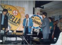 Marco Cappato e Marco Pannella, prima di una conferenza stampa sulle prossime elezioni europee.