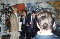 Paolo Vigevano, Marco Cappato e Roberto Iezzi, nel salone di Torre Argentina.