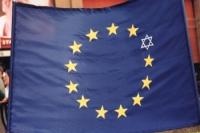 Bandiera dell'Unione europea, con la stella di Davide.
