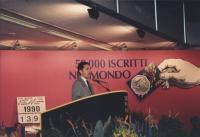 Rutelli parla dalla tribuna del 2o congresso italiano del PR. Nelle altre altre foto di Rutelli
