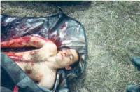 Cadavere di uno studente ceceno , Ismail KHUTIEV.