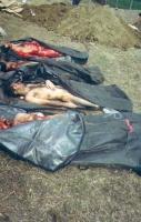 4 cadaveri di giovani ceceni scoperti presso la base russa di Khankala. I corpi sono svuotati degli organi interni. Hanno subito un prelievo di pelle