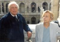 Marco Pannella ed Emma Bonino (alla Corte di Cassazione, dove hanno consegnato le firme sui 20 referendum).