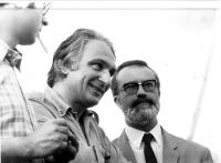 Marco Pannella ed Eugenio Scalfari (?) Foto giovanile.