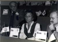 36° Congresso. Sergio Stanzani, Emma Bonino, Sergio D'Elia.