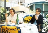 Olivier Dupuis durante la campagna per le elezioni europee.