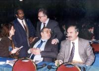 Mohammed Aden Sheik, Franco Piro ed altri a un congresso radicale.