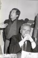 Enzo Cerusico ed Enzo Tortora a un congresso radicale.