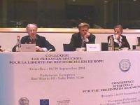 Convegno: LE CELLULE STAMINALI PER LA LIBERTA' DI RICERCA IN EUROPA, presso il Parlamento Europeo, promosso dal Partito Radicale Transnazionale, dai d