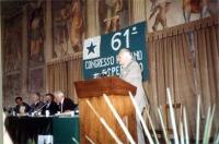Marco Pannella alla tribuna del 61° congresso italiano di esperanto.