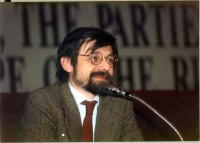 Angelo Panebianco (giornalista) al 34° congresso del PR.