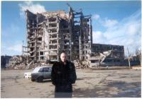 Casa distrutta in Cecenia.