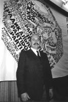 Ritratto del generale Ambrogio Viviani al Consiglio Federale.  (BN) buona
