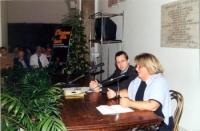 """Convegno nell'anniversario del 20 settembre. """"L'Italia libera e liberata"""", presso il Campidoglio, promosso dai Radicali Italiani. Al tavolo: Benedetto"""