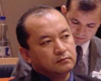 """Enver Tohti (delegato dell'East Turkestan National Congress), partecipa al convegno: """"La situazione nel Turkestan dell'Est dopo mezzo secolo di occupa"""