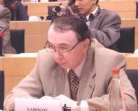 """Faruk Sadikov (delegato dell'East Turkestan National Congress), partecipa al convegno: """"La situazione nel Turkestan dell'Est dopo mezzo secolo di occu"""