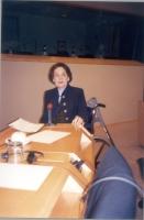 Catherine Lalumière (deputato al Parlamento Europeo del Gruppo Partito Socialismo Europeo, membro della Direzione del PE) interviene al seminario sull