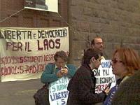 Manifestazione per la liberazione di cinque esponenti radicali arrestati nel Laos, in seguito a una manifestazione non violenta per la democrazia nel