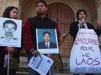 Manifestazione davanti all'ambasciata del Laos, per la liberazione di cinque radicali arrestati nel Laos (e di cinque studenti laotiani scomparsi da d