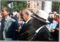 Gianfranco Spadaccia partecipa a una manifestazione anticlericale, indetta dai radicali in occasione della presa di porta Pia.
