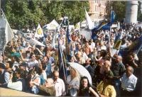 Folla di partecipanti alla manifestazione anticlericale, indetta dal PR nella ricorrenza della presa di porta Pia.