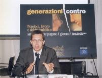 """Benedetto Della Vedova  presiede al convegno: """"Generazioni contro - Pensioni, lavoro, debito pubblico"""", promosso dai Radicali Italiani."""